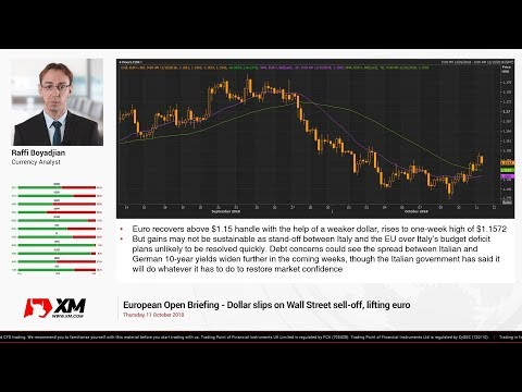 Forex News: 11/10/2018 - Dollar slips on Wall Street sell-off, lifting euro