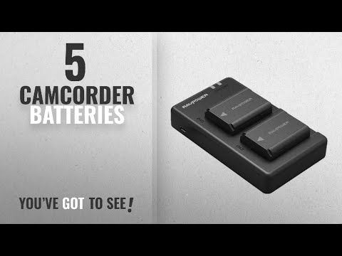 Top 10 Camcorder Batteries [2018]: NP-FW50 RAVPower Camera Battery Charger Set for Sony ( 2-Pack