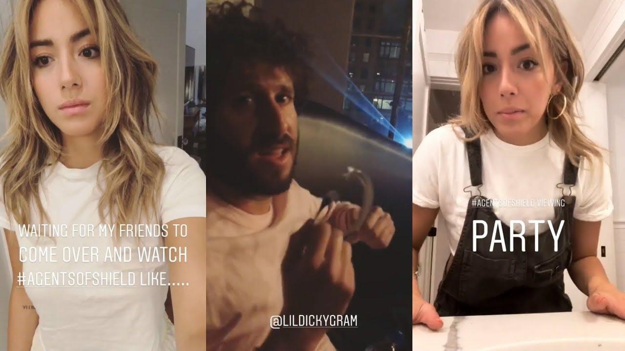 Chloe Bennet Snapchat Story 18 May 2018 W Lil Dicky Youtube