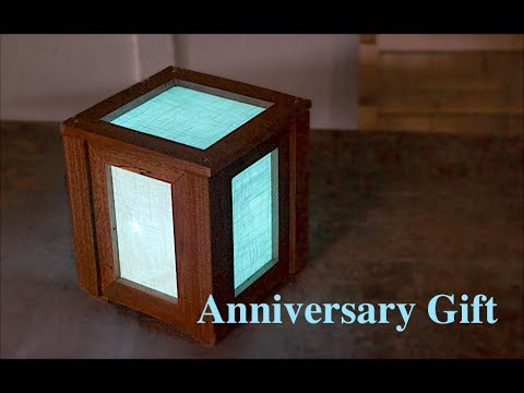 Walnut & Linen Lamp | Anniversary Gift || Woodworking