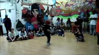 Dem Bague Boyz :  Down By Law 2 Top Rock Battle BBoy A.B. vs Knowbody