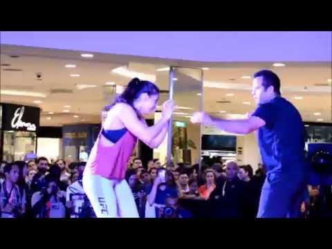 Mackenzie Dern treina Jiu-Jitsu com Leozinho Vieira para o UFC 224