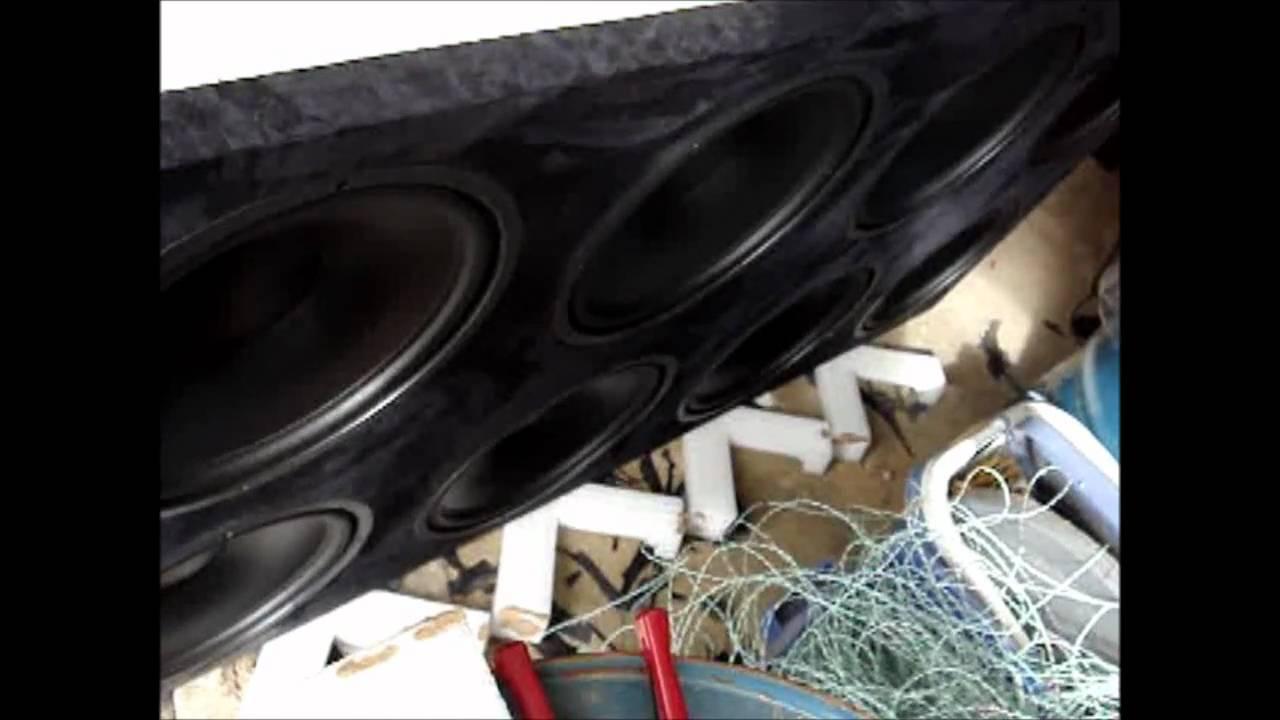 CriticalListenAudio infinite baffle subwoofer (8) 15's - testing prior to  install