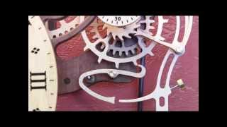 Brian Law's Woodenclocks-clock 22 With Gravity Escapements No. 2