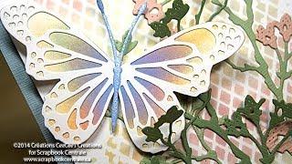 Carte Printanière Avec Memory Box Lunette Butterfly Card