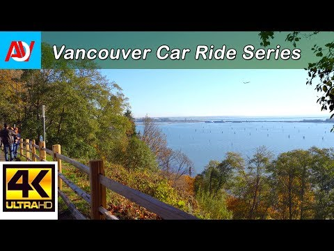 Vancouver CAR RIDE: SW MARINE DRIVE HISTORICAL MONUMENT Scenic Viewpoint (Lookout)