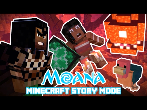 Moana, Maui VS Te Kā Ultimate Fight! Minecraft Story Mode (Moana Theme)
