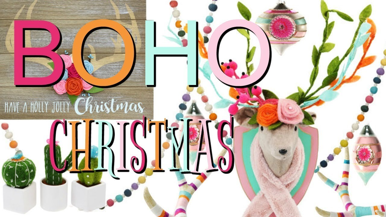 boho christmas decor cacti llamas more - Boho Christmas Decor