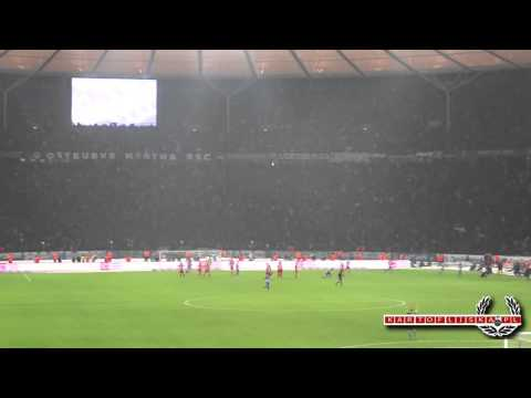 Berlin derby: Hertha goal for 2:2 + sounds of celebration - 11.02.2013 [kartofliska.pl]