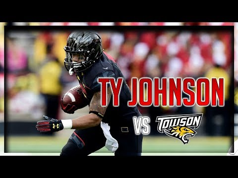 Ty Johnson Highlights vs Towson // 5 Carries for 124 Yards, 2 TDs // 9.09.17