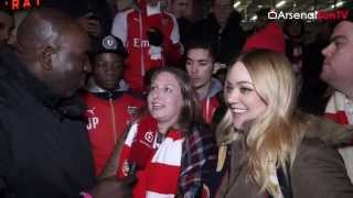 The Ladies Love Alexis Sanchez!!!  | Arsenal 3 Dinamo Zagreb 0