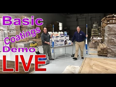Basic Coatings Hardwood Floor Products LIVE Demo | Cleaner,