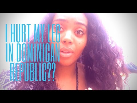DOMINICAN REPUBLIC Travel Vlog | I Hurt My Leg | BIG SURPRISE GUEST | Chanelle Adams