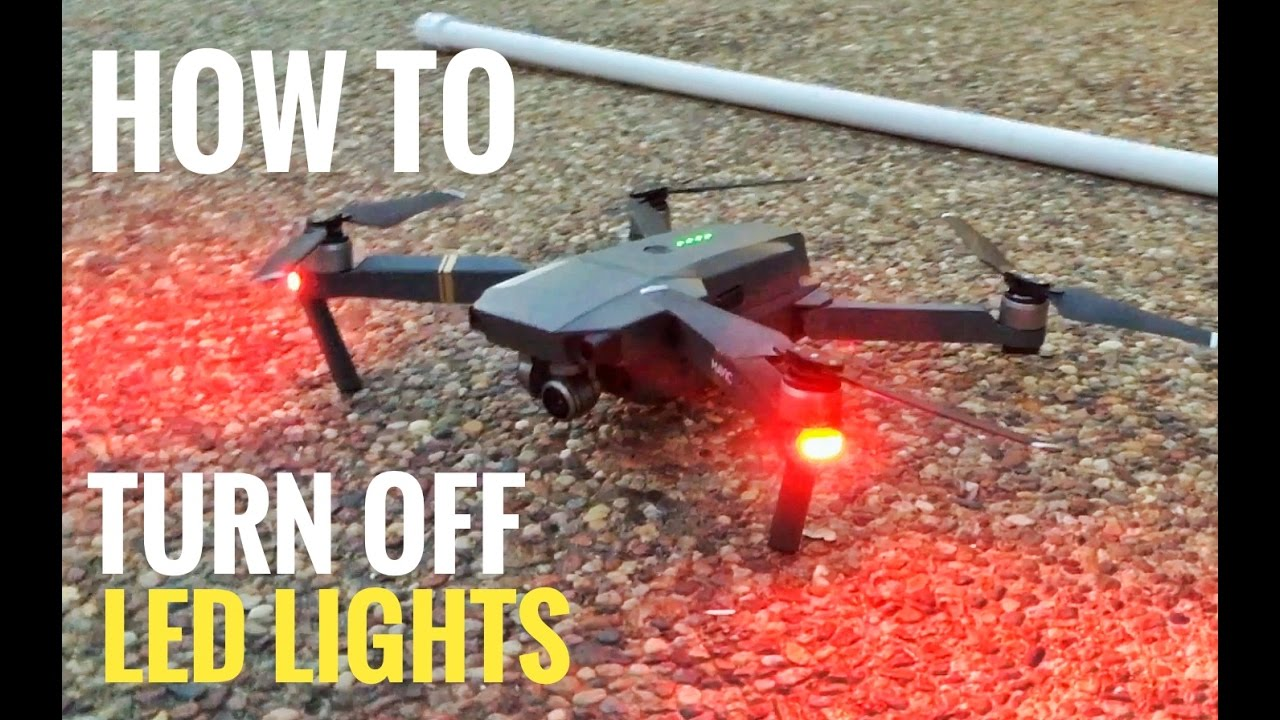 DJI Mavic Pro how to turn off red LED Lights (links bellow)