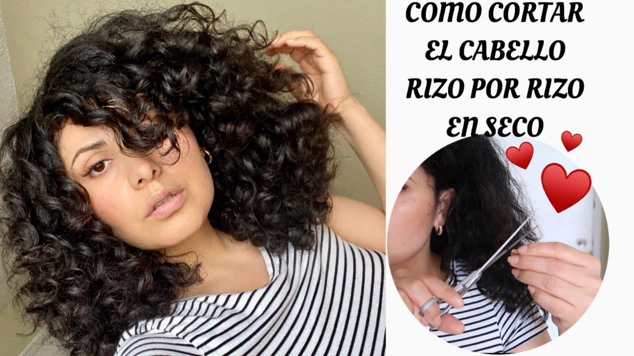 Como Me Corto El Cabello Rizado En Seco Rizo Por Rizo Youtube