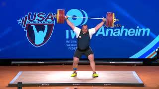 Lasha Talakhadze – 220 kg Snatch - WORLD RECORD - 2017    Anaheim USA Weightlifting
