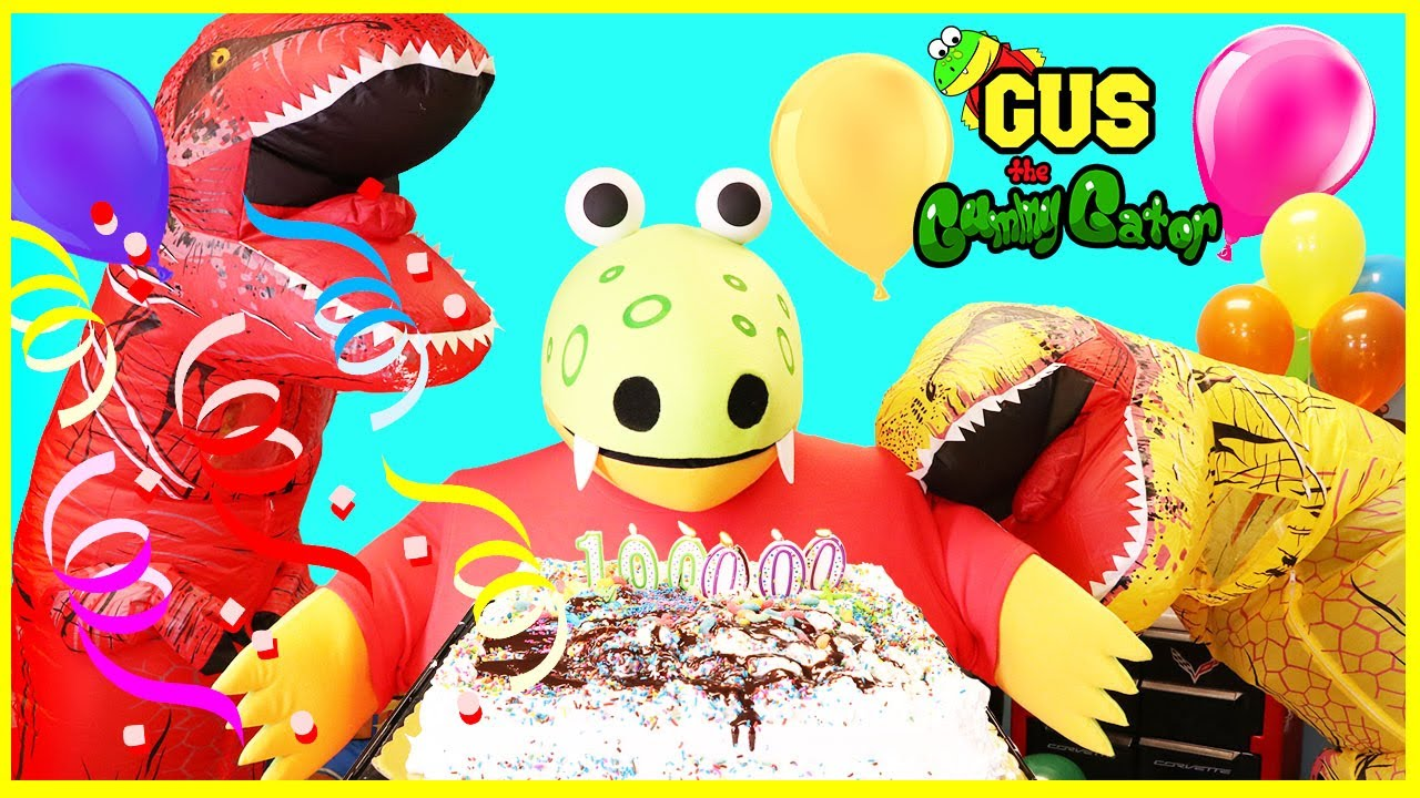 GIANT Gus the Gummy Gator celebrates 100,000 Subscribers ...