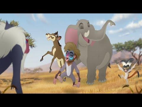Lion Guard: Meet Chama, Mzaha & Furaha! | Rafiki's New Neighbors HD Clip