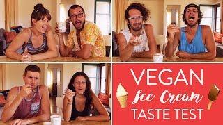 VEGAN ICE CREAM TASTE TEST 🍦 Coconut Bliss // Julie