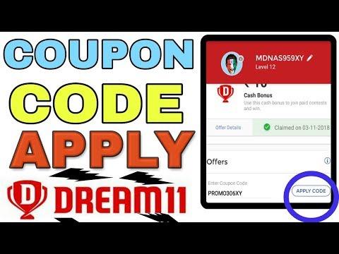 Dream 11 coupon code apply instantly 200 bonus cash offer @Technaseem
