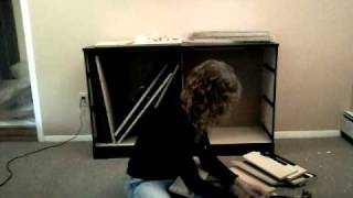 Young Woman Builds Herself A South Shore Dresser!