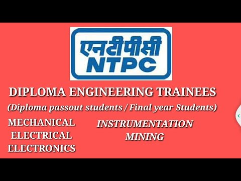 NTPC RECRUITMENT 2018 FOR DIPLOMA ENGINEERING TRANIEES.