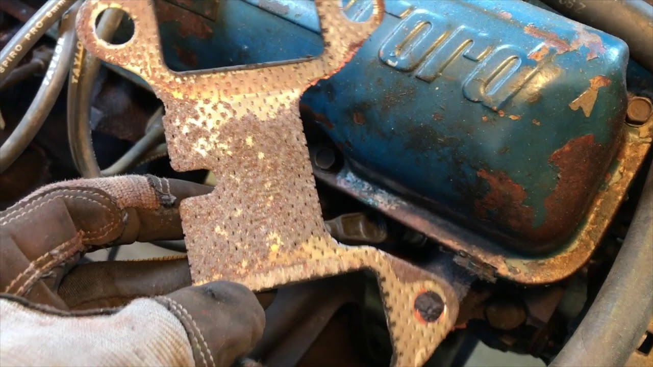 FORD FE 360/390 Exhaust manifold repair replacement - 1972 Ford F250