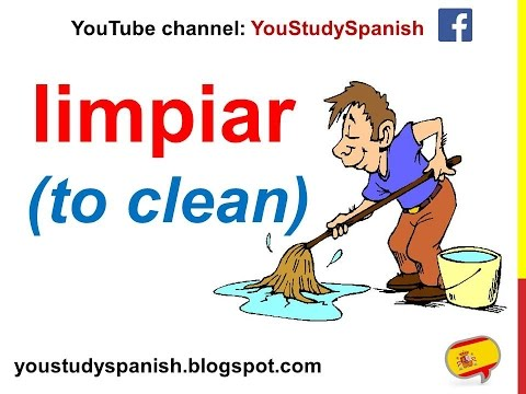 Spanish Lesson 70 - Household CHORES in Spanish Vocabulary Cleaning the house for kids