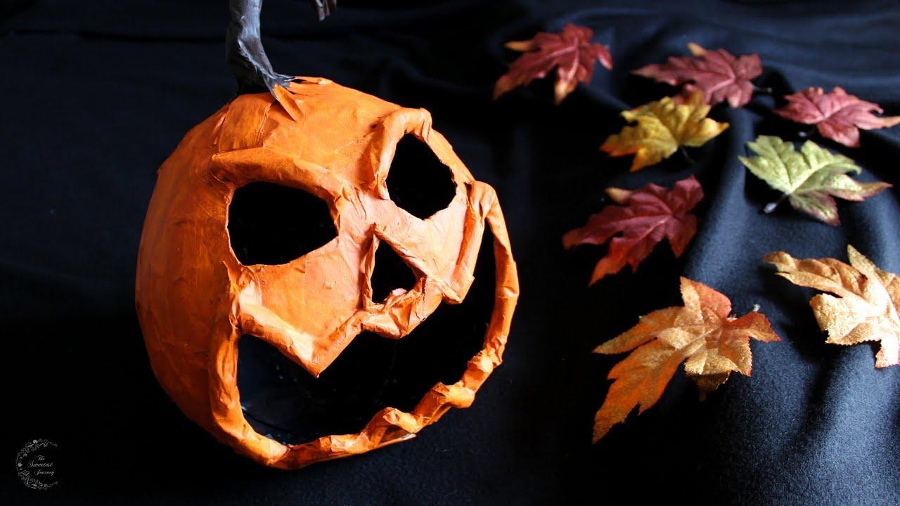 Paper Mache Pumpkin Tutorial Diy Halloween Decor The Sweetest Journey Youtube