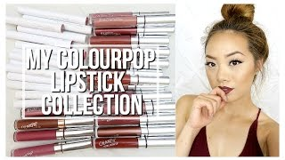 My ColourPop Lipstick Collection | Lip Swatches + Dupes for Jeffree Star, MannyMua x OFRA