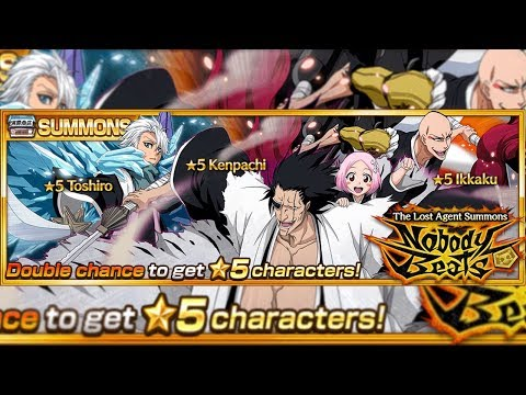 Bleach Brave Souls: Summons Double Chance Nobody Beats!!! Zaraki, Toshiro e Ikkaku!!! NÃO VI TRAPS!!! - Omega Play