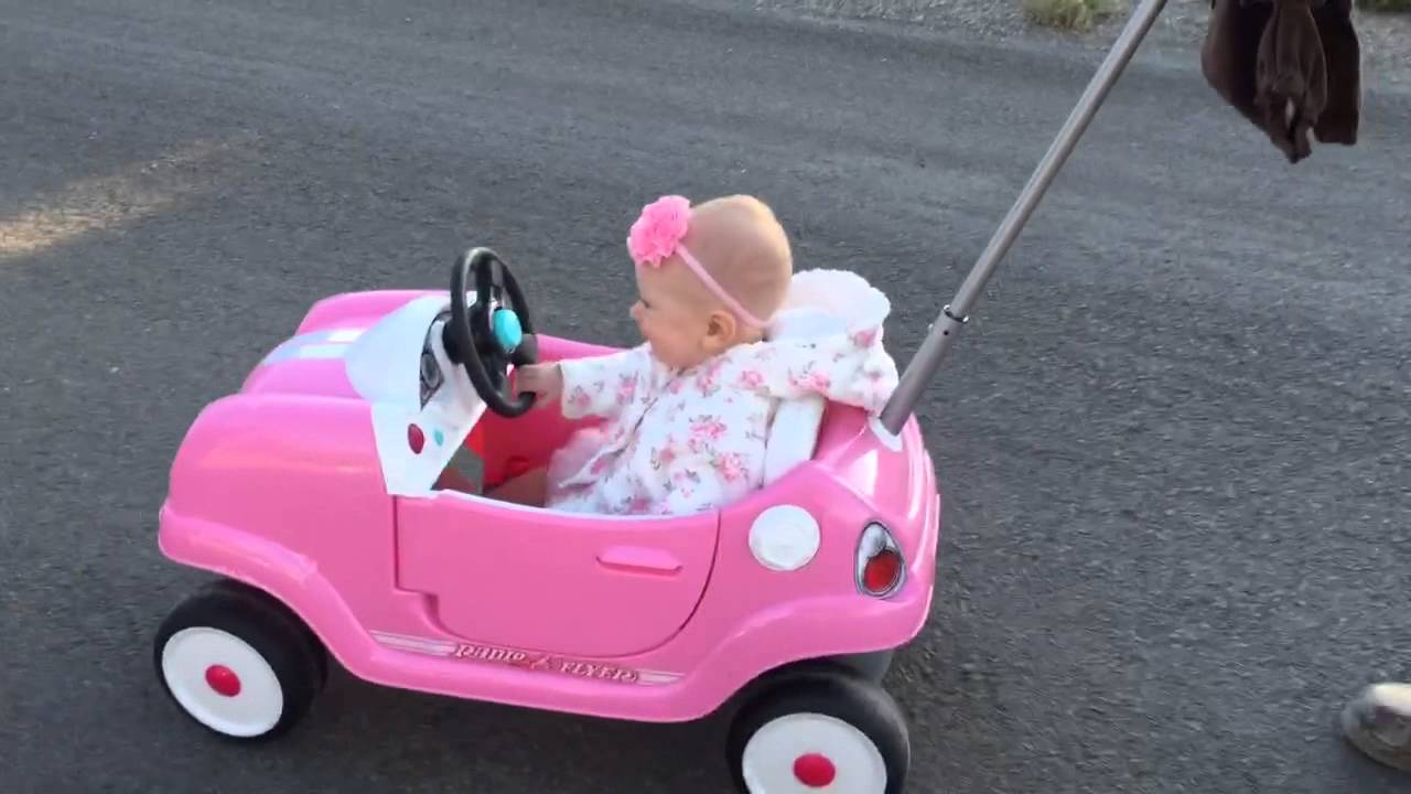 Our Baby Loves Her New Radio Flyer Steer Stroll Coupe Ride On