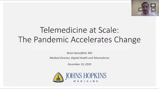 Dr. Brian Hasselfeld \u0026 Telemedicine at Scale Informatics Education Grand Rounds 12/10/20
