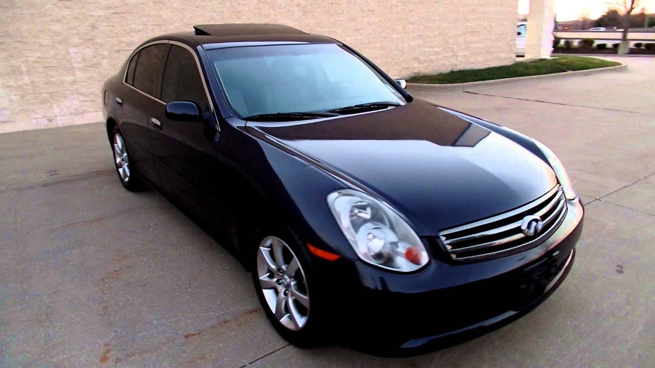 2005 infiniti g35 sedan g35x all wheel drive [ 1280 x 720 Pixel ]