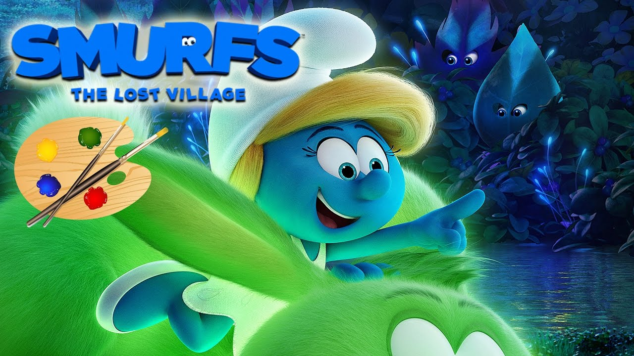 Smurfs The Lost Village Movie Coloring Book Coloring Pages Video For Kids Smurfette Youtube