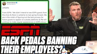 ESPN Responds To Pat McAfee Calling Them Out For Banning Employees