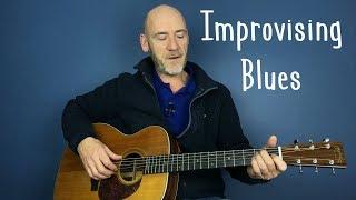 Blues Guitar - Improvising - Guitar lesson by Joe Murphy