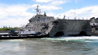 Littoral Combat Ship Parking at Pearl Harbor