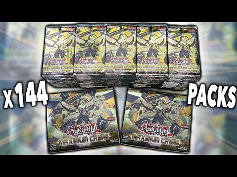 BEST YuGiOh x144 PACKS OF MAXIMUM CRISIS 1st Edition OPENING! x6 MAXIMUM CRISIS BOOSTER BOXES!