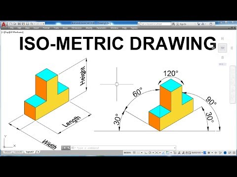 Iso-metric Drawing In AutoCAD for Beginners | Exercise 3
