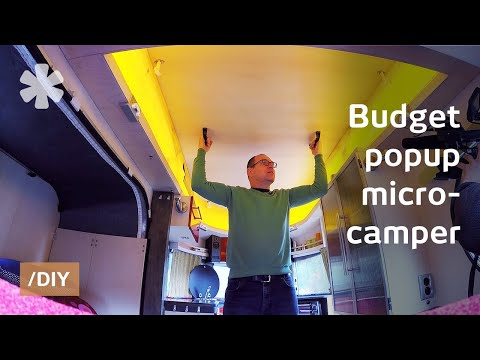 Couldn't find his dream popup micro-camper, built it instead