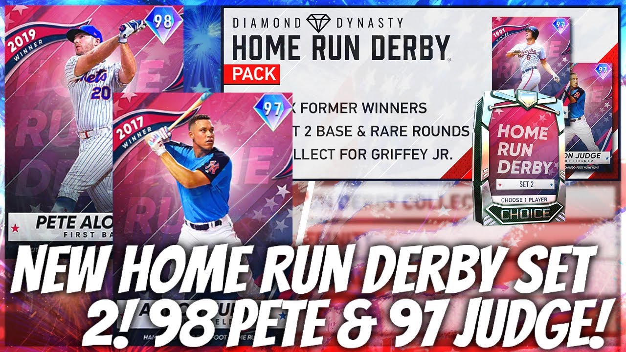 AMAZING 98 Pete Alonso And 97 Judge! NEW Home Run Derby Diamonds Set 2! MLB The Show 20