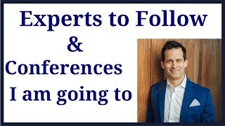 Cryptocurrency experts to follow, how curate your education, and 2 conferences I am going to.