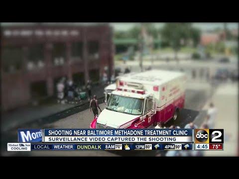 Police investigate shooting near Baltimore methadone clinic