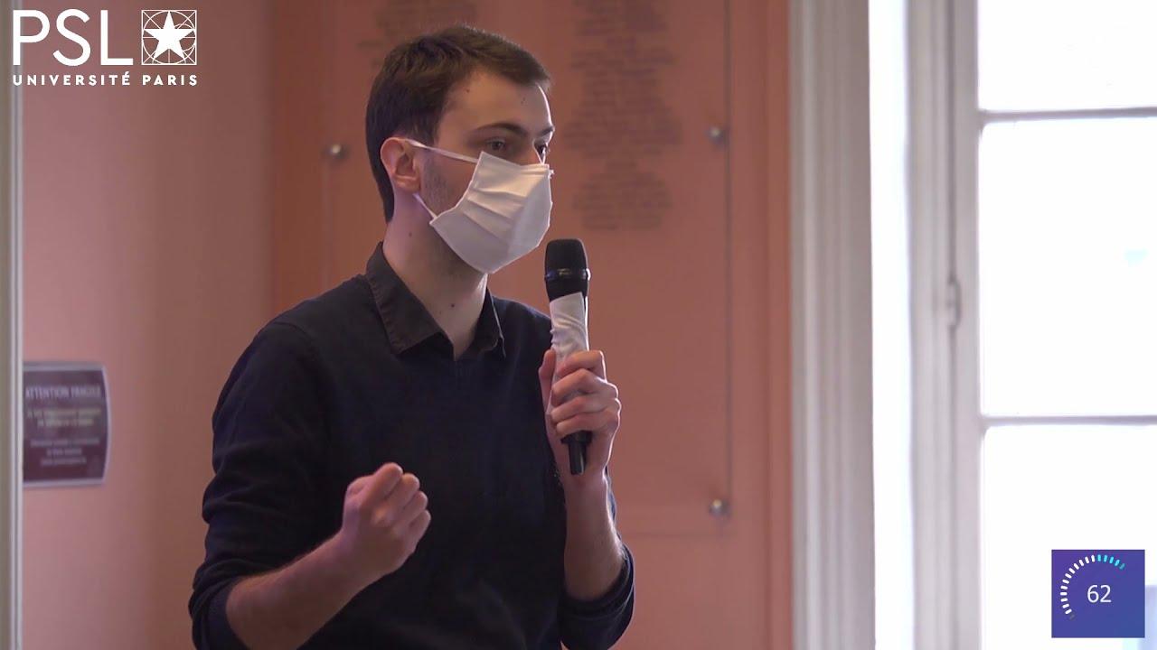 Hugo Lachuer à « Ma thèse en 180 secondes » finale PSL 2021