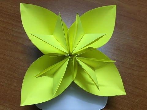How to make Origami Kusudama Flower - DIY Easy Flower Paper