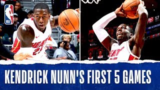 Kendrick Nunn's Historic First 5 Games