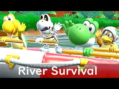 Super Mario Party River Survival Yoshi Koopa Hammer Bro And