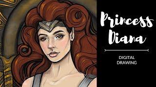 Princess Diana, Wonder Woman | Digital Illustration