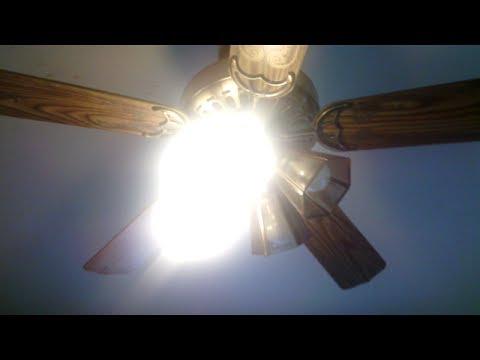 52 Antique Brass Halsey GE Vent Ceiling Fan